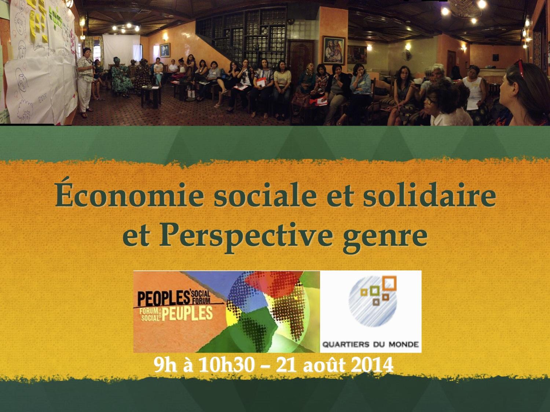 ess, genre forum social des peuples